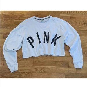 PINK Victoria's Secret Crop Sweatshirt Marble M